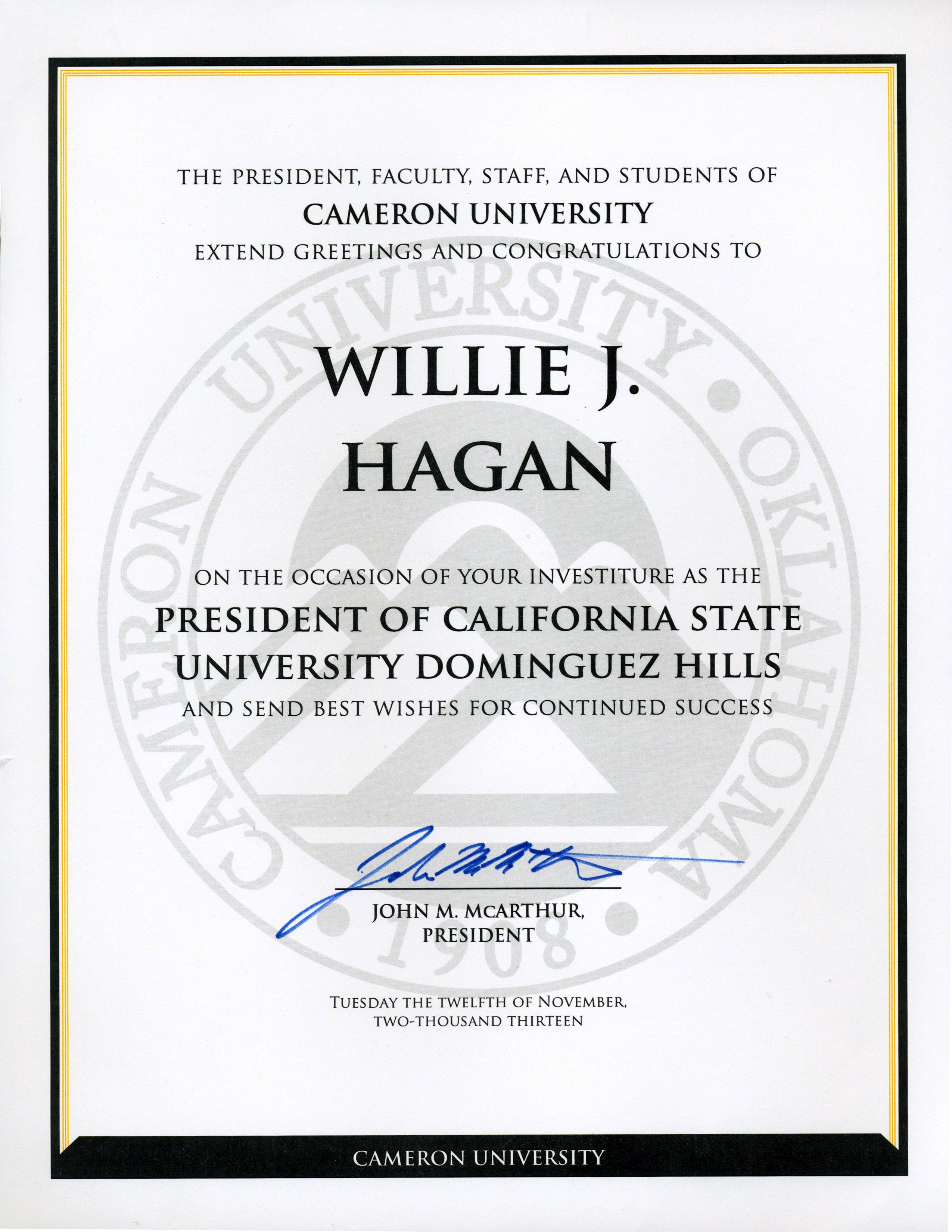 Southern California Colleges >> Inauguration Congratulations