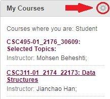 How to Customize Course List