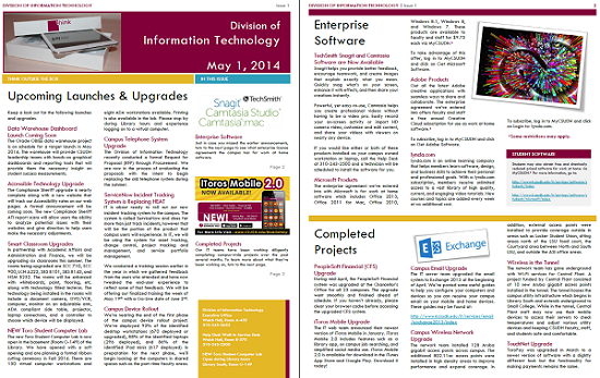 I.T. Newsletter, May 2014