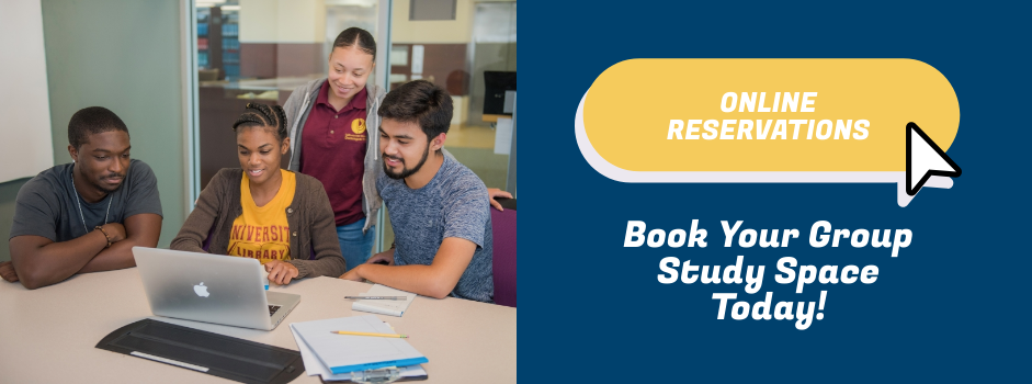 Online reservations for Group Study Rooms now available!