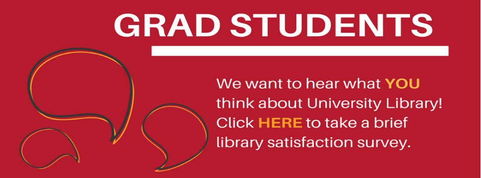Graduate students, please take our survey at this link