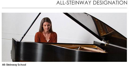 All-Steinway Designation: Sabrowsky on Piano - All-Steinway School