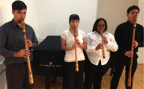 four recorder players