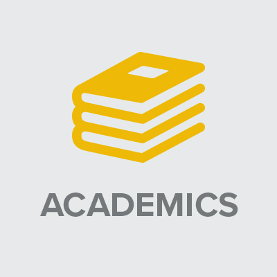 image showing icon and text: Academics