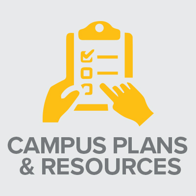 Icon with text: Campus Plans and Resources