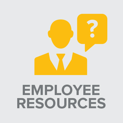 Icon with text: Employee Resources