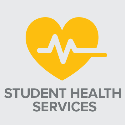 Icon with text: Student Health Services