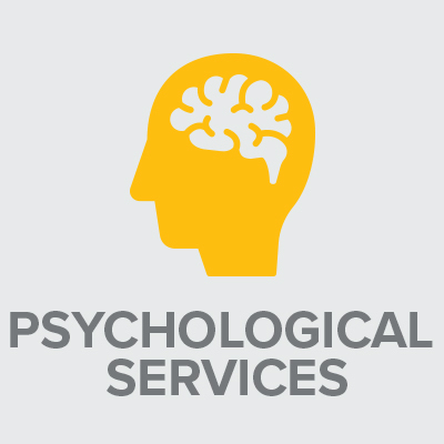 Icon with text: Psychological Services