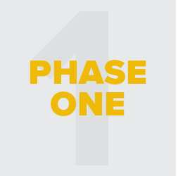 Icon with text: Phase 1