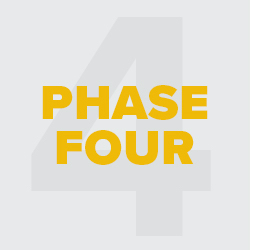 Icon with text: Phase 4