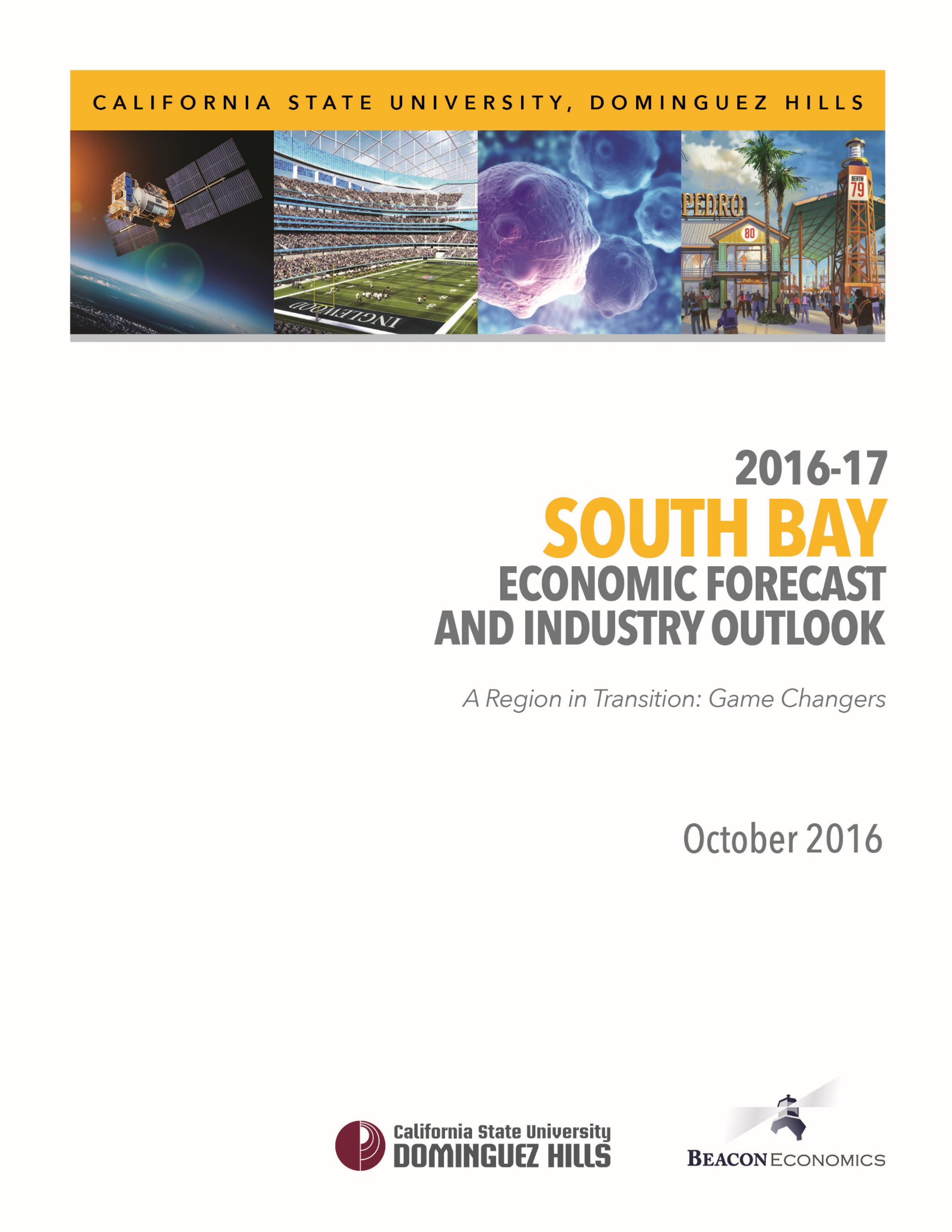 2016 South Bay Economic Forecast Report Cover