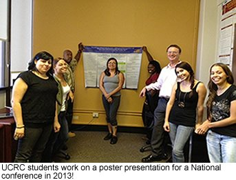 UCRC students poster presentation