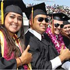 CSUDH graduates thumbs up